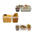 (MS-Venture) Microwaveable Compartments Containers ———- Imported Product (Stock : Imported)
