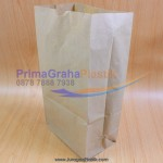 Paper Food Bag Coklat (Stock : Ready)