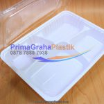 Box Bento Putih (XL) 5 Sekat / 5 Partisi (Stock : Ready)