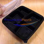 "Lunch Box Bento Microwave & Freezer 5 Sekat – Hitam / Black ""Imported"" (Stock : Ready)"