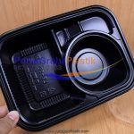 (Hiro Food) Lunch Box Microwave 3 Sekat (Stock : Ready)