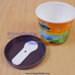 "Paper Cup Ice Cream Durian Mini 4 Oz ""Termasuk Sendok & Tutup Inject"" (Stock : Ready)"