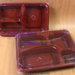 """Box Bento Mika """"3 Sekat & 4 Sekat"""" Red-Black (KOSONG Tidak Tersedia Lagi)"""