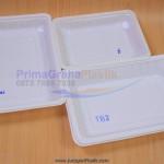 (TB) Tray Plastik Putih / Hitam Solid  Untuk Display Buah, Sayur, Makanan (Stock : Indent)