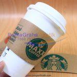 Sleeve Hot Cup – Sarung Khusus Penahan Panas untuk Gelas Kopi – POLOS (Stock : Ready)
