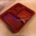 "Box Bento Oven & Freezer 4 Sekat Merah Hitam ""Red-Black"" – ""Imported"" (Stock : Ready)"