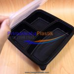 "Lunch Box Bento Microwave & Freezer 3 Sekat – Hitam / Black ""Imported"" (Stock : Ready)"