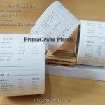 Cetak Sticker Transparant Roll untuk Packaging