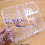 Kotak Bento Microwave 4 Sekat dengan 1 Slot Sendok & Garpu (Stock : Ready)
